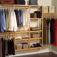 This is a great example of a small closet that looks spacious